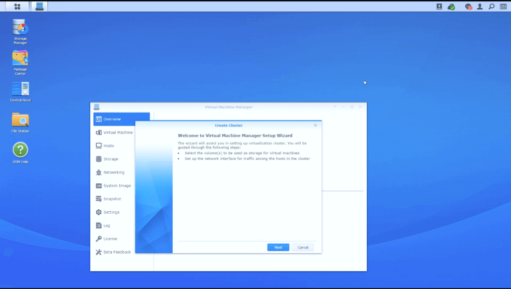 synology virtual machine manager installation